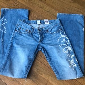 VTG LUCKY BRAND Painted Jeans- Button Fly Low Rise